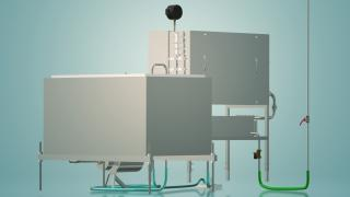 A capacitive milk pasteurizer 500 l UZM-0.5 E