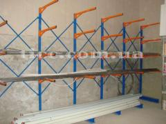 Cantilever racks, pipe racks, for reels, rolls