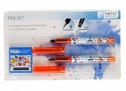 M18-470720, pen Set - 2 PCs, orange-colored