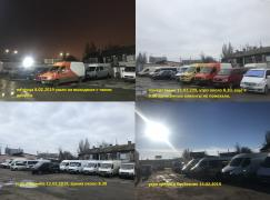 One HUNDRED vans are Mercedes,Renault and Volkswagen in Odessa